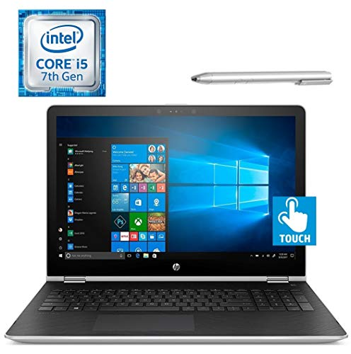 HP Pavilion X360 15.6'' 2-in-1 Touchscreen FHD (1920x1080) IPS Laptop PC/Tablet, Intel i5-7200U, 8GB DDR4 RAM, 128GB SSD, B&O Play, Bluetooth, Stylus Pen Included, Windows 10, Customize Hybrid Drive