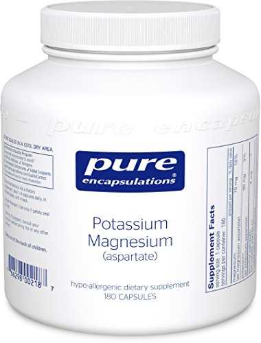 Pure Encapsulations - Potassium Magnesium (Aspartate) - Hypoallergenic Supplement to Support Heart, (Aspartate 180 Capsules)