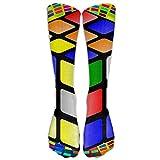time machine rubik - Colorful Wallpaper with A Rubiks Cube Basketball Long Socks