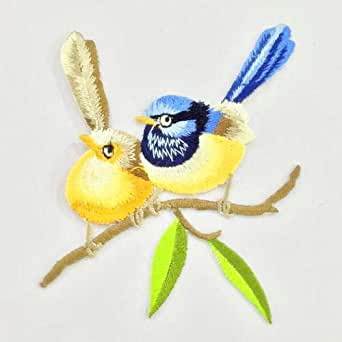 embroidery Bird Patches embroidered Decoration DIY Sew on Patch HM-OT025