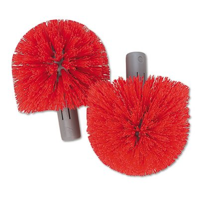 (Unger Professional Products - Brush Replacement Heads, 2/PK, Red - Sold as 1 PK - Replacement brush heads are designed for use with Unger Ergo Toilet Bowl Brush system. Brush heads allow workers to effectively clean bowl and urinal without bending close to the surface.)