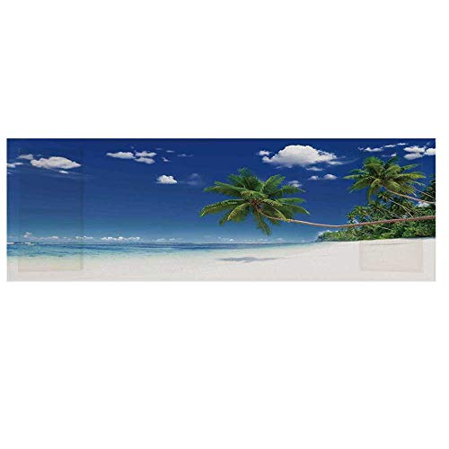 - Ocean Cotton & Linen Microwave Oven Protective Cover,Photo of a Paradise Beach in Tropics Exotic Hot Summer Day with Sky Landscape Cover for Kitchen,36