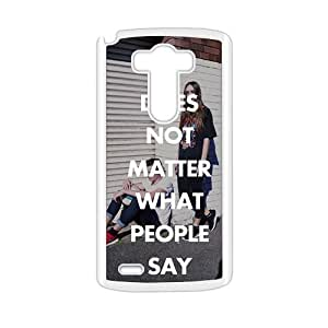 Personalized Clear Phone Case For LG G3,If does not matter what people say