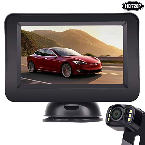 LeeKooLuu Backup Camera and Monitor Kit HD 720P Easy Installation
