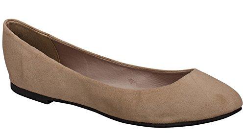 Women's Ballet Breckelles Toe Natural Shoe Flat Round pTzUzwq