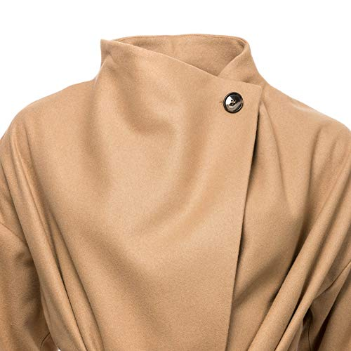 Manteau Beige Funnel camel Nck Platform Felt Coat Connection Femme French 8wCqYHt