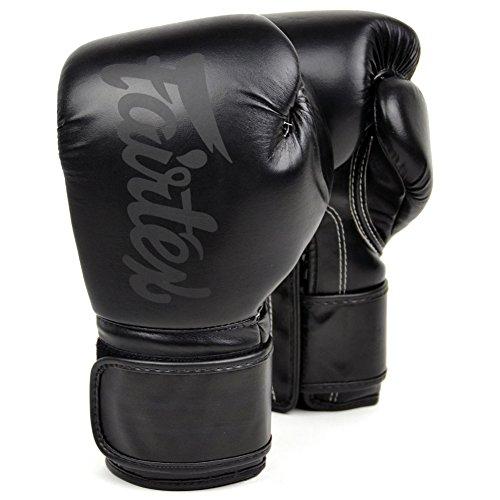 Fairtex BGV14 Microfibre Boxing Gloves Muay Thai Boxing, MMA, Kickboxing,Training Boxing Equipment, Gear for Martial Art (Solid Black, 16 oz)