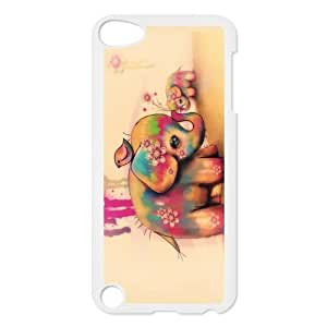 Vintage Retro Elephant Protective Hard PC Back Fits Cover Case for iPod Touch 5, 5G (5th Generation)
