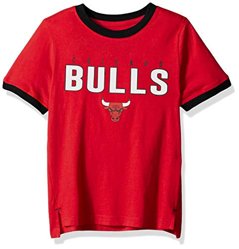 Outerstuff NBA NBA Kids & Youth Boys Chicago Bulls Key Short Sleeve Fashion Tee, Red, Youth -