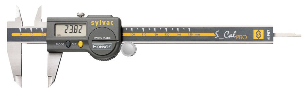 Fowler 54-200-777-1 Stainless Steel Pro-Max Electronic Caliper, Direct RS-232 Output, 0-6'' Measuring Range, 0.0005'' Repeatability, 0.001'' Maximum Error