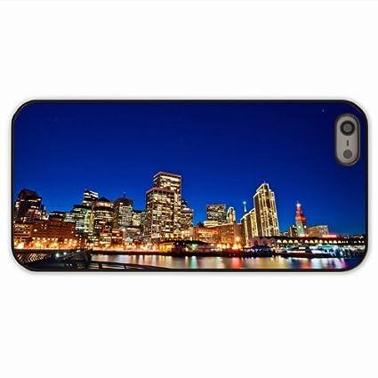Amazon.com: Make Phone Case For Apple 5 5S City City Night ...