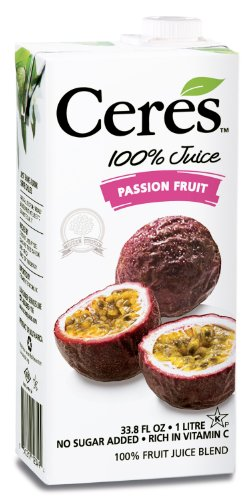 Ceres 100% Fruit Juice Blend, Passion Fruit, 33.8 Ounce (Pack of 12) from Ceres