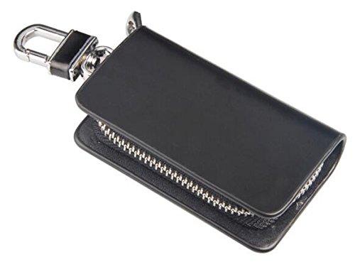 Trust premium leather car key chain coin holder zipper for Mercedes benz key pouch