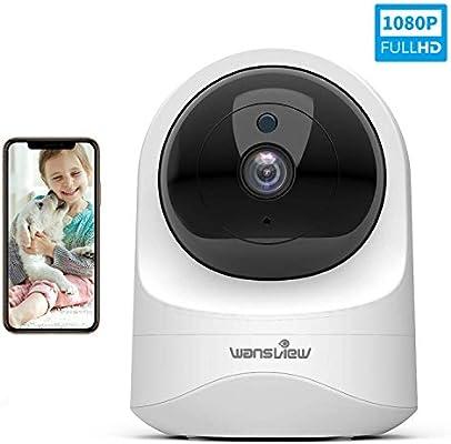 Wansview Cámara IP WiFi, 1080P Cámara Vigilancia WiFi con Visión ...