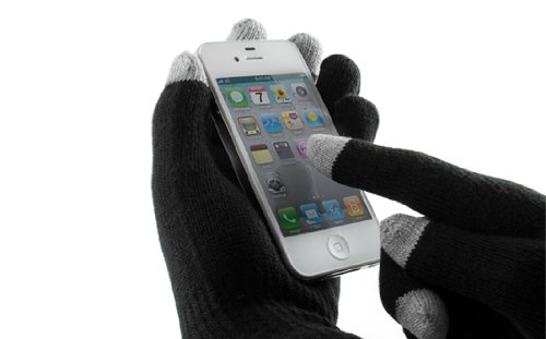 TeckNet Touch Screen Gloves for iPhone, Ipad, BlackBerry, Samsung, HTC and Other Smartphones, Pda'S & Sat Navs - Black