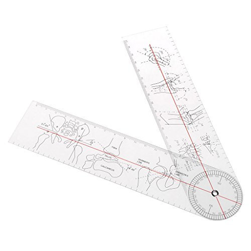 (YUNAWU Goniometer Angle Medical Ruler Rule Joint Orthopedics Tool Instruments Plastic)