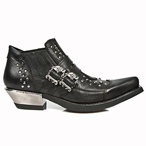 New Rock West nero Pelle Scarpe M.7956-S1