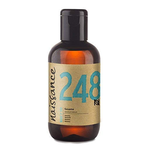 - Naissance Sesame Seed Oil 3.4 fl.oz / 100ml - Nourishing and Hydrating for Skincare, Haircare, and as a Massage Base oil