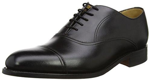 BARKER Calf Scarpe Uomo Stringate 17 Black Oxford Nevis Nero 01wr0q
