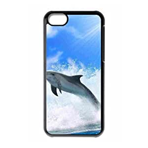 Dolphin Use Your Own Image Phone Case for Iphone 5C,customized case cover ygtg519455