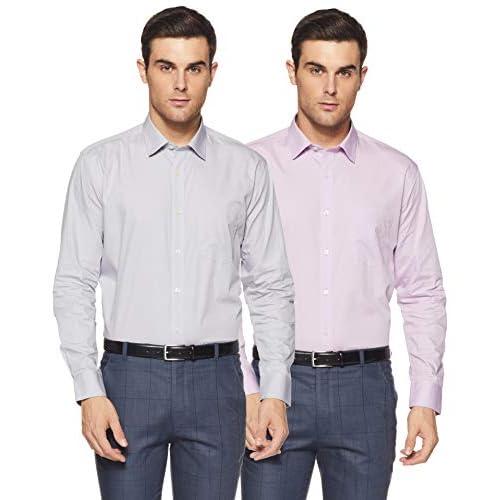 41m%2BBDpBqaL. SS500  - Amazon Brand - Symbol Men's Solid Formal Shirt