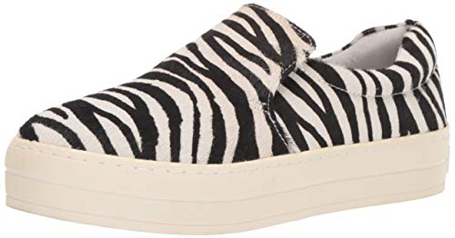 (J Slides Women's Harry Sneaker Zebra Pony Leather 8.5 Medium US)