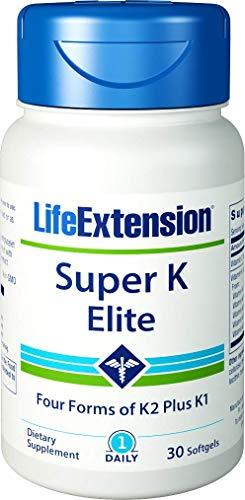 Life Extension Super K Elite - Complete K Formula for Healthy Bones, Arteries 30 Softgels ()