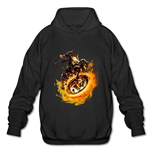 BOOMY Ghost Rider Logo Man's Hooded Sweatshirt SIZE XL