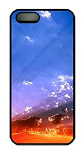 iPhone 5 5S Case Sky View Sunset PC Custom iPhone 5 5S Case Cover Black