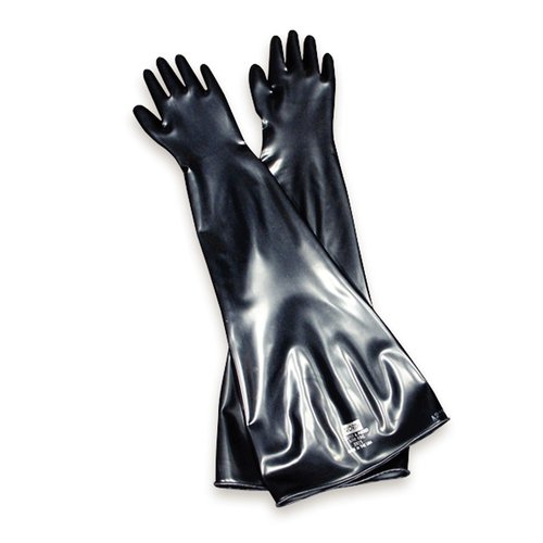 North 8N1532/9Q By Honeywell Size 9 3/4 Black 32'' 15 mil Neoprene Multi-Dipped Hand Specific Chemical Resistant Gloves With Smooth Finish (1/PR)