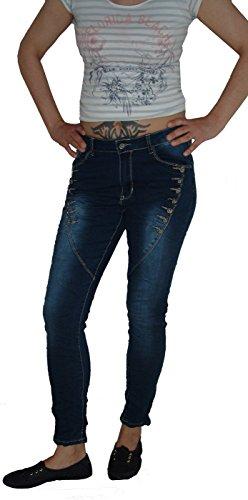 cb7f7cd30417d6 Rose Player Damen Boyfriend Jeans Hose RP001j  Amazon.de  Bekleidung