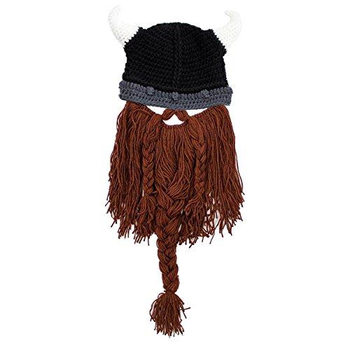 Beard Head Bartmütze Plünderer Wikingerhelm Lustige Strickmütze
