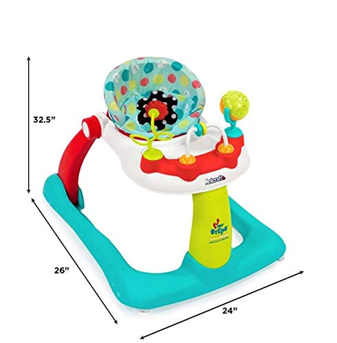 41m%2BDB8OAjL - Kolcraft Tiny Steps 2-in-1 Infant & Baby Activity Walker - Seated Or Walk-Behind, Jubliee