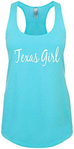 Junior's Funny Tank Top Size 2X (Texas Girl (Texas Shirt) Ladies Novelty Tee