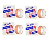 Hy-Tape Pink Tape, 1.5'' x 5 Yards, 15LF - Pink Medical Waterproof Surgical Tape (4 Pack (2 Count))