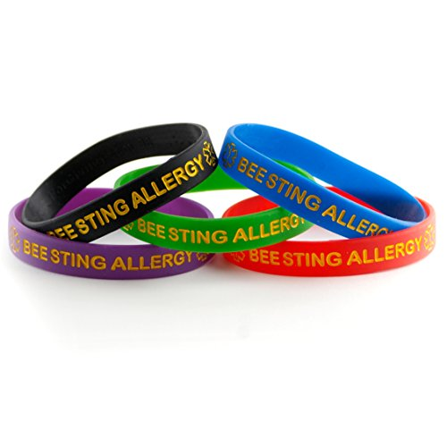 Bee Sting Allergy ID Bracelet