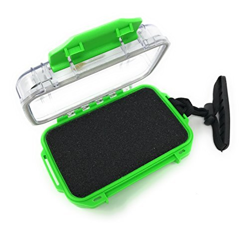(Best Waterproof SD MEMORY CARD HOLDER - Trail Camera SANDISK Memory card case. RUGGED SD CARD STORAGE CASE. Secure STORAGE BOX Holds 16 Memory Cards. (Lime Green, Original))