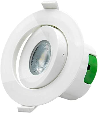 """4/"""" Inch LED Recessed Light Pivoting Drop Down Can 3000K White LED Downlight"""