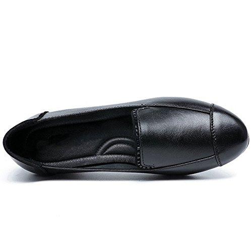 Cyber cuir Mocassin Confort Décontracté Conduite Chaussures De Voyage Slip-on Noir