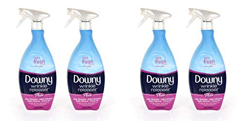 Downy Wrinkle Release Spray Plus, Static Remover, Odor Eliminator, Steamer for Clothes Accessory, Fabric Refresher and Ironing Aid, Light Fresh Scent, 33.8 Fluid Ounce (4 count), 2 Pack