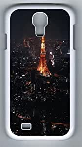 Night In Paris Polycarbonate Hard Case Cover for Samsung Galaxy S4/Samsung Galaxy I9500 White