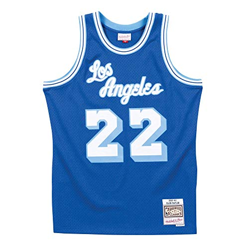Mitchell & Ness Los Angeles Lakers Elgin Baylor Throwback Road Swingman Jersey Blue (Large)