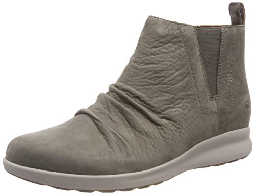 Clarks Mid Adorn Beige Taupe para Mujer Nubuck Un Slouch Botas 4w4rv