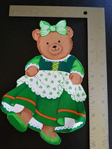St. Patrick's Bear Iron On Applique #132