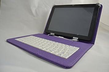 """Funda con teclado para Tablet LG Gpad V700 10.1"""" - Morada (Teclado ..."""