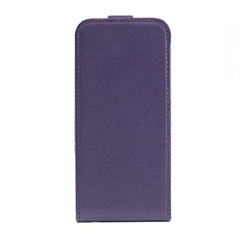 """iProtect housse Flip Case cuir synthétiquee pochette de protection pour Apple iPhone 6 (4,7"""") en violet"""