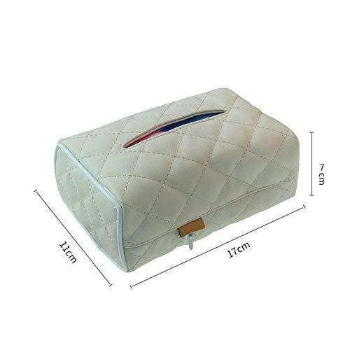 17cm*11cm*7cm Hacoly Porta Fazzoletti in Scatola Porta Fazzoletti Beige Scatola Porta Salviette Tissue Box Dispenser per la Decorazione di Casa Ristorante Ufficio Auto