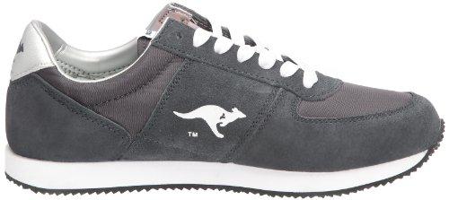 Roos - Zapatillas de cuero para hombre Gris (Grau (Gris (Charcoal/White)))