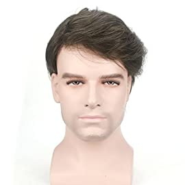 Lordhair Light Men's Toupee Human Hair Pieces Real Hair Toupee for Men