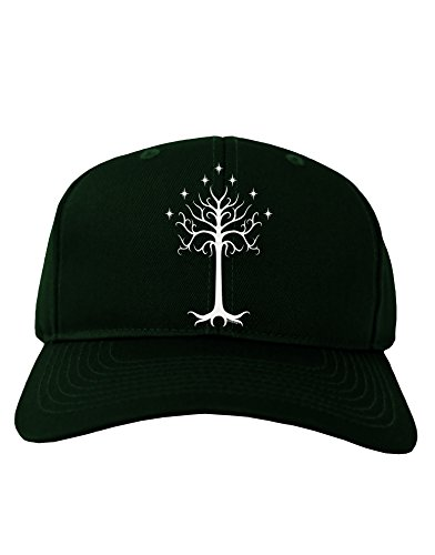 TooLoud The Royal White Tree Adult Dark Baseball Cap Hat - Hunter Green ()